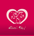 Valentine heart pink background vector image vector image