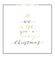 We wish you a Merry Christmas gold text vector image vector image