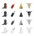 wild west history and other web icon in cartoon vector image vector image