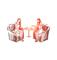 woman psychologist consultation listening vector image vector image