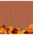 wooden background 4 vector image