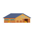 wooden barn for keeping hay and agricultural vector image vector image