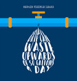 world water day information for nature help vector image vector image