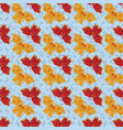 yellow and red butterflies seamless pattern vector image vector image