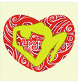 yoga heart vector image