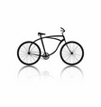 bicycle silhouette isolated on white background vector image