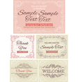 Vintage invitations and frames vector image