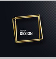 abstract golden square shapes vector image