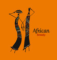 african women with jugs ornate sketch for your vector image vector image