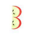 b veggie fruit letter of english alphabet made vector image