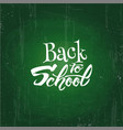 back to school text drawing white chalk in vector image vector image