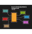 black infographics vector image vector image
