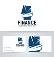 Boat Finance vector image vector image