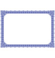 border with ouline style in blue colour vector image