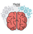 brain human mental health gears image vector image vector image