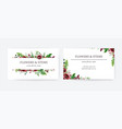 business card invite save date floral vector image vector image