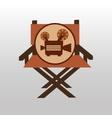 camera movie vintage chair icon design vector image vector image