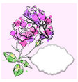 card with frame and flowers vector image vector image