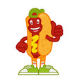 cartoon character hot dog vector image vector image