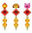 chinese zodiac symbols vector image vector image