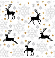 christmas pattern seamless with deer and vector image vector image