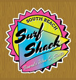 classic surf logo design vector image vector image
