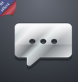 Cloud of thoughts icon symbol 3D style Trendy vector image