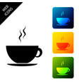 coffee cup icon isolated on white background tea vector image
