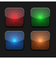 collection glowing icons vector image