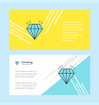 diamond abstract corporate business banner vector image
