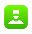 doctor icon digital green vector image
