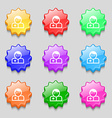 Doctor icon sign symbol on nine wavy colourful vector image