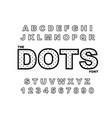 dots alphabet modern bold font vector image