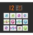Eye design hi-tech concepts collection vector image vector image