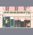 facade cafe or cafeteria vector image