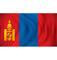 Flag of Mongolia vector image vector image