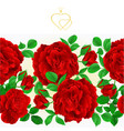 floral border seamless background red roses vector image vector image
