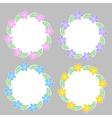 Floral frame for text summer frame vector image vector image
