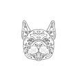 French Bulldog Head Mandala vector image vector image