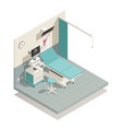 gynecology cabinet isometric composition vector image vector image