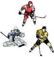hockey trio vector image vector image