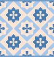 indigo blue decorative floor tiles pattern vector image vector image