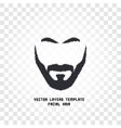 isolated face with mustache and beard logo