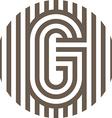 letter line g alphabet design vector image vector image