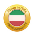 Made in Italy badge gold vector image vector image