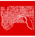 map of st paul city in the style of flat design vector image vector image