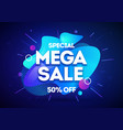mega shopping day sale banner background vector image vector image