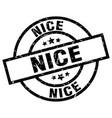 nice black round grunge stamp vector image vector image