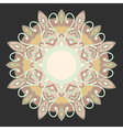 Ornamental round lace in ethnic style vector image vector image