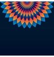 Pattern with circle ornament mandala and rhombus vector image vector image